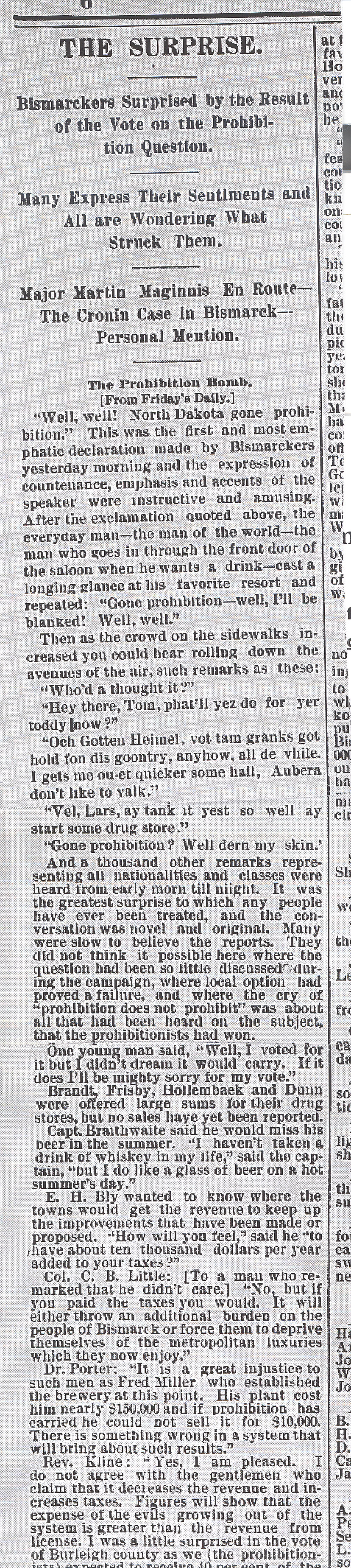 Prohibition article