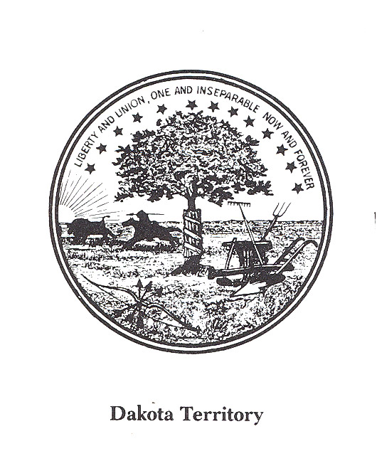 The official seal the Dakota Territory used to mark territorial documents.