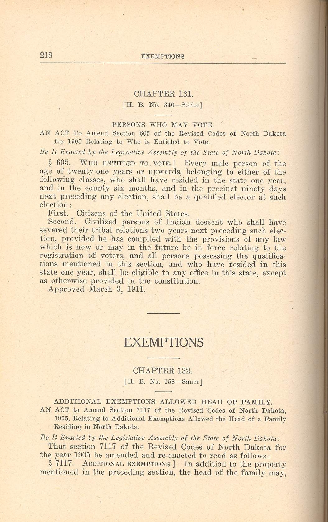 1911 Voting Law