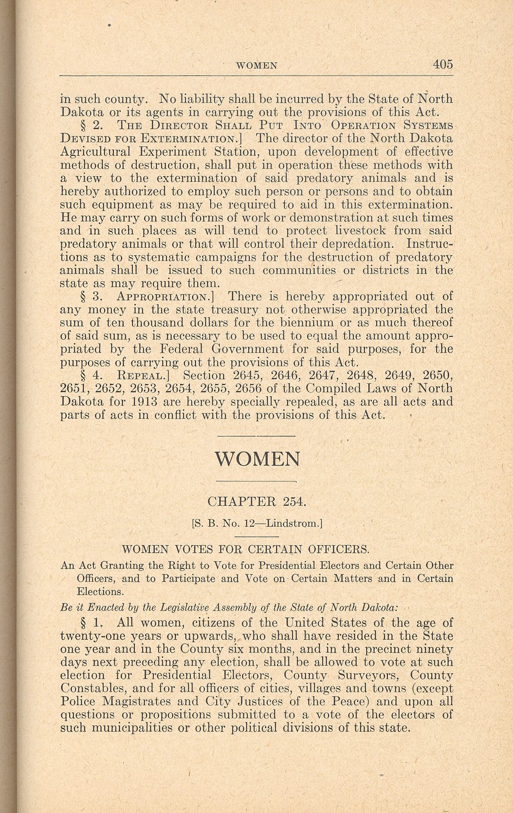 section w suffrage to north dakota studies page 1