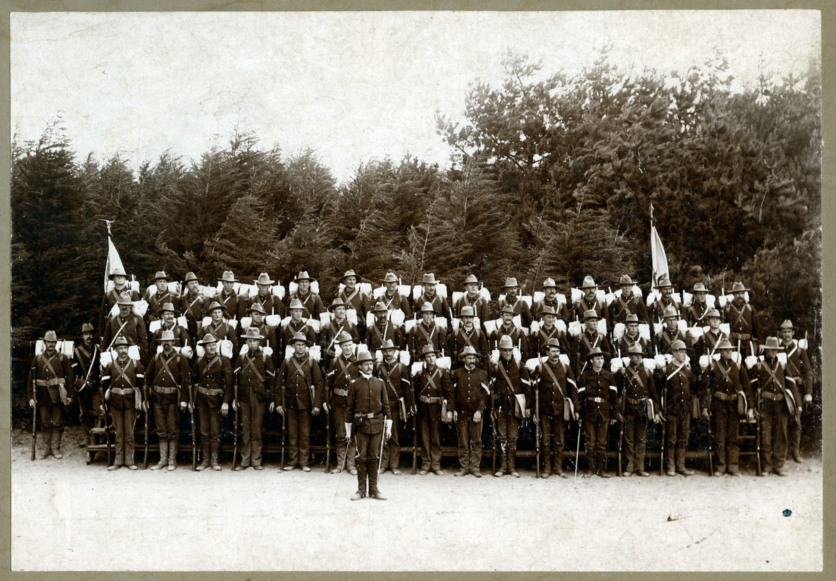 section the north dakota national guard in the spanish american image 4 company a of the first north dakota volunteers posed for a formal portrait during their war service company a was one of eight companies accepted