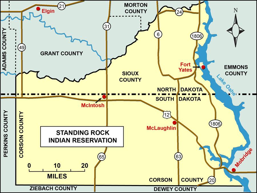 Section The Taking North Dakota Studies - Nd land ownership map
