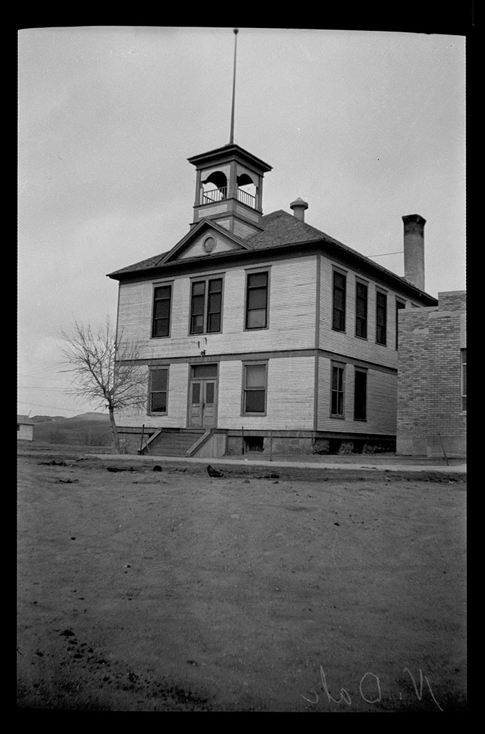 The WPA designed and built the Emmons County Courthouse in Linton. The building replaced a cramped and outdated building. The project provided employment for many local men. The WPA built six other county courthouses in North Dakota during the 1930s. 30573-0061. <span class='figure-archive-id'> </span>