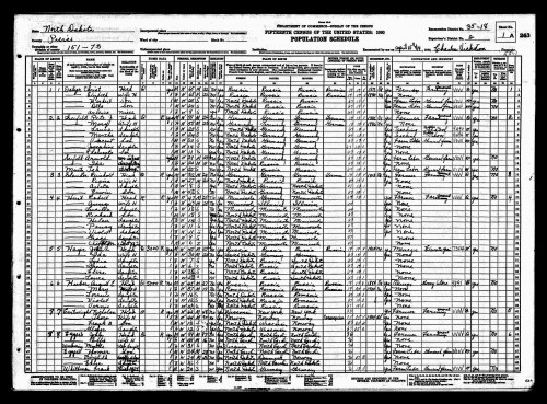 Pierce County Census, 1930