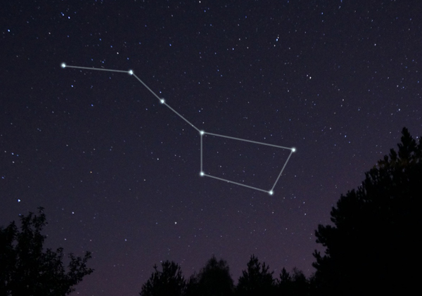 Image of the big dipper constellation