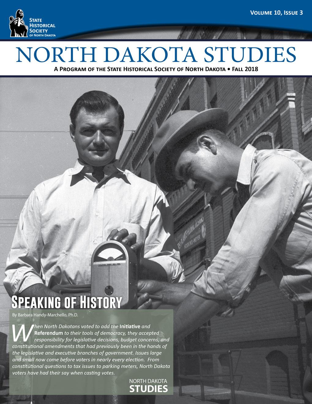 ND Studies newsletter cover - Volume 10-3 Fall 2018