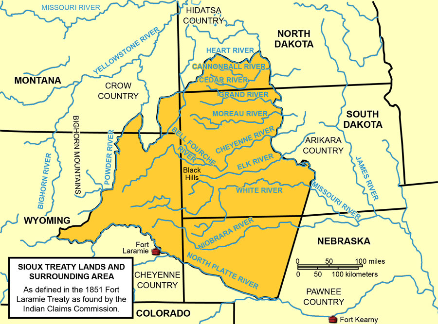 Sioux Treaty Lands and Surrounding Area