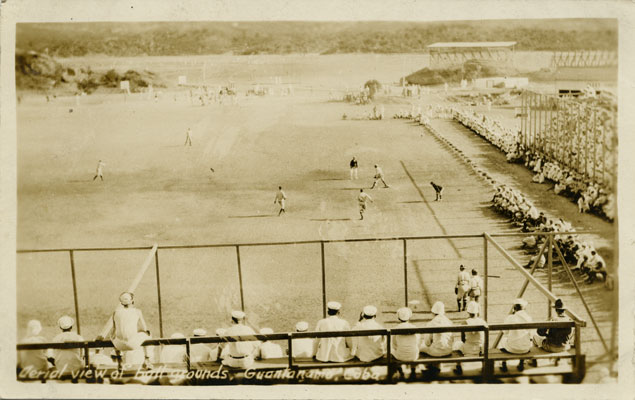 North Dakota's baseball team playing at Guantanamo Bay, Cuba