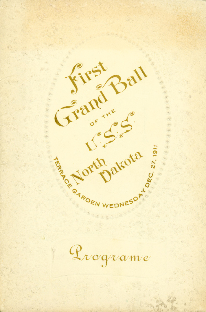 First Grand Ball of the USS North Dakota Programe Cover