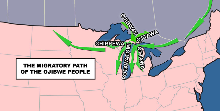 Migratory Path of the Ojibwe People