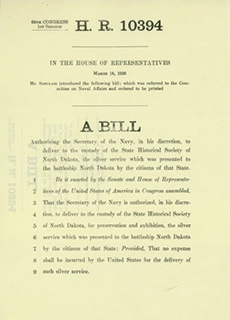 The bill that Congressman Sinclair submitted to the U.S. House of Representatives.